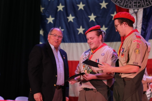 Troop 5's Sponsor, The Rotary Club, Celebrates Jared and Max